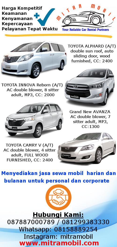 Mitra Mobil Rental Mobil Jakarta Mobil Bersih Driver Berpengalaman Dan Service Yang Baik